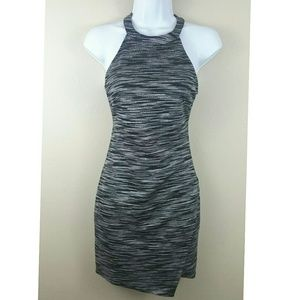 ASTR gray/black sexy Fitted Dress